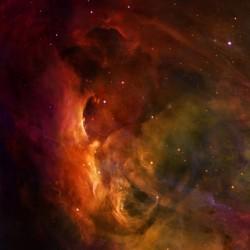 """Red Nebula 36"""" x 36"""""""