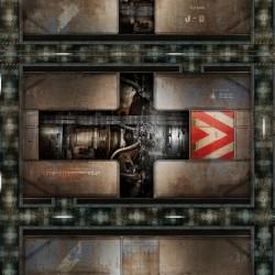 "Engine Room 36"" x 36"""