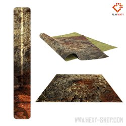 """Burned Field / Grass - Double-Sided 36"""" x 36"""" Mat for Guild Ball"""
