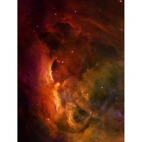 """Red Nebula 48"""" x 36"""""""