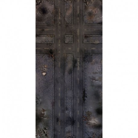 """Ruined Streets 72"""" x 36"""""""