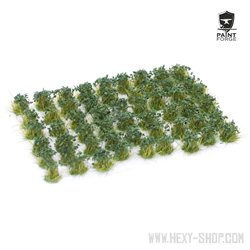 Dark Green Flowers - 6mm Tuft