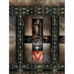 "Engine Room 72"" x 48"""