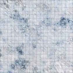 Dry-erase mat - Snow - hexagonal grid