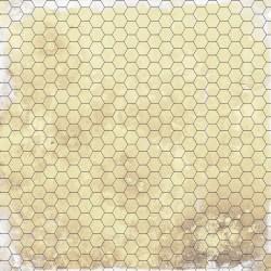 Dry-erase mat - Papyrus 1 - hexagonal grid