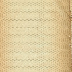 Dry-erase mat - Papyrus 2 - hexagonal grid