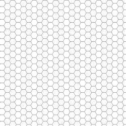 Dry-erase mat - White - hexagonal grid