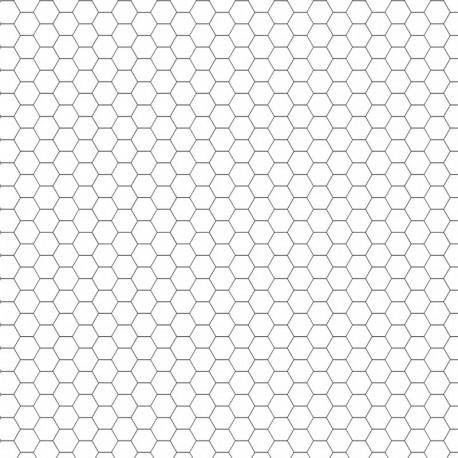 Dry-erase mat - White - hexagonal grid