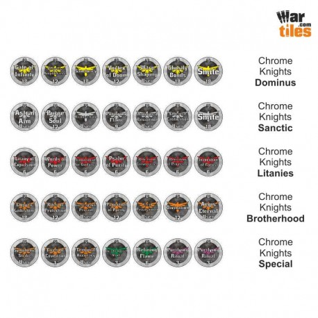 Space Warriors Tokens Set - Chrome Knights