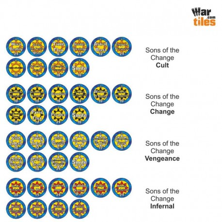 Chaotic Warriors Tokens Set - Sons of the Change