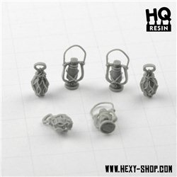 Oil Lamps Set 3 - Basing Kit