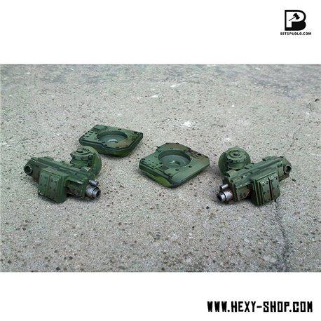 Side Heavy Cannons for Battle Tank