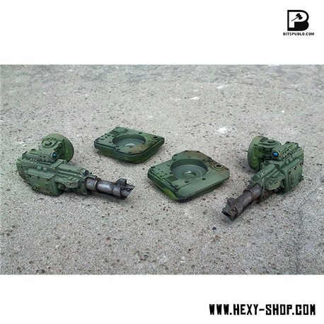 Side Laser Cannons for Battle Tank