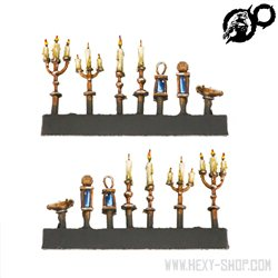 Candlesticks & Lamps Set