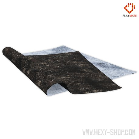Dragon Lair / Ice Fossil – Double-Sided 48″ x 48″ Mat for Battle Games