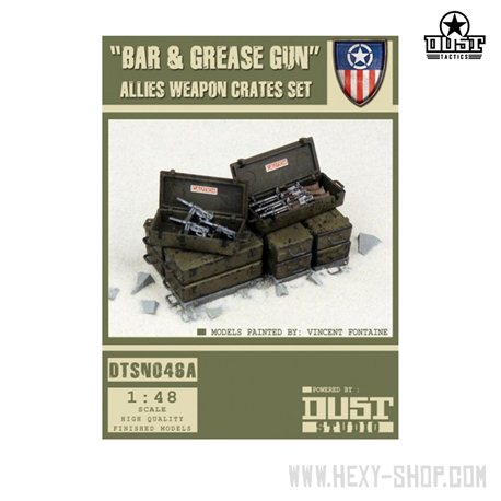 """""""BAR AND GREASE GUN"""" - ALLIED WEAPON CRATES"""