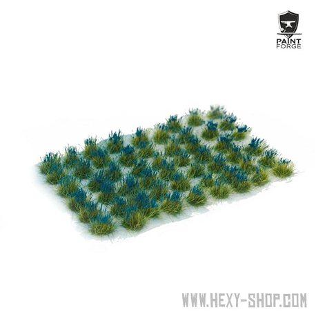Dark Blue Flowers - 6mm Tuft