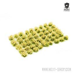 Beige Flowers - 6mm Tuft