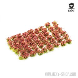 Crimson Red Flowers - 6mm Tuft