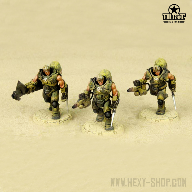 """Steel Marines"" - USMC Heavy Engineer Squad - Hexy Store - All Miniatures  in one place"