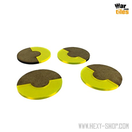 Base 180-Degrees 50mm Yellow (4)
