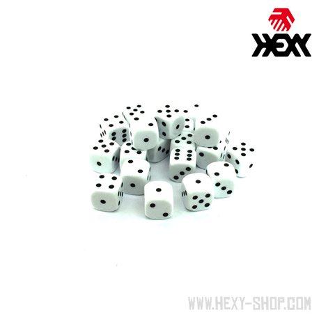 Hexy Dice Set - Supernova White (20)