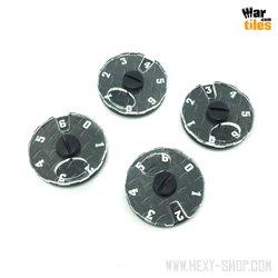 Wound Dial (1-6) - Dark Steel