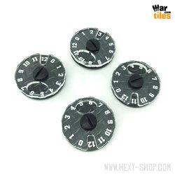 Wound Dial (1-12) - Dark Steel