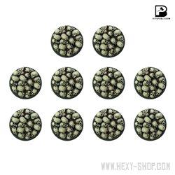25mm Round Skull Pile Bases (x10)