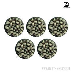 32mm Round Skull Pile Bases (x5)