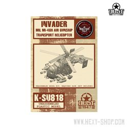 Invader MIL MI-46H Transport Helicopter Unassembled Model Kit