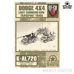 Dodge 4x4 Light Command/Gun/Transport Truck - Unassembled Kit
