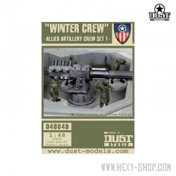 Winter Crew Allied Artillery (Unassembled)
