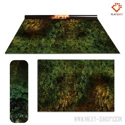 """Orc Lands / Amethyst land - Double-Sided 72""""x 48"""" Mat for Battle Games"""