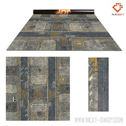 Infinity 2 / Rice Field 2 – Double-Sided 48″ x 48″ Mat for Battle Games