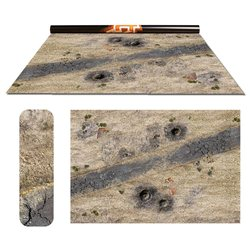 """Wasteland 1/ Vulcanic - Double-Sided 72"""" x 48"""" Mat for Battle Games"""