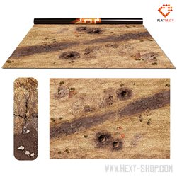 """Wasteland 2 / Treasure Island - Double-Sided 72"""" x 48"""" Mat for Battle Games"""