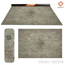 """Paved Plaza / Ocean 1 - Double-Sided 72"""" x 48"""" Mat for Battle Games"""