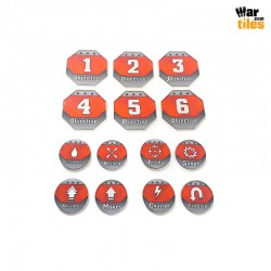 Kill Teams Tokens Set - Red