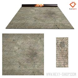 Paved Plaza / Ocean 1 – Double-Sided 48″ x 48″ Mat for Battle Games