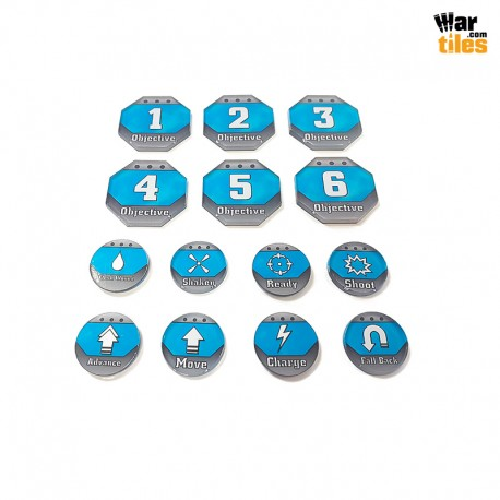 Kill Teams Tokens Set - Blue