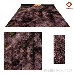 """Malifaux Deploy Zone 3 / Paved Plaza - Double-Sided 36"""" x 36"""" Mat for Battle Games"""