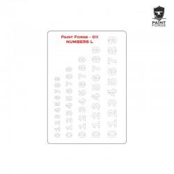 Stencil - Numbers - Medium