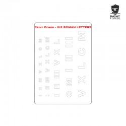 Stencil - Roman Letters - Size: M