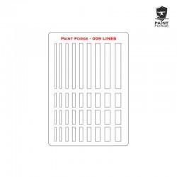 Stencil - Lines - Size: L