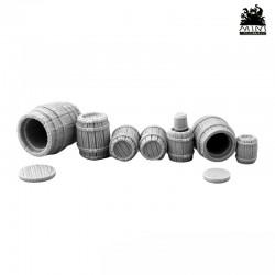 Wooden Barrels Mix