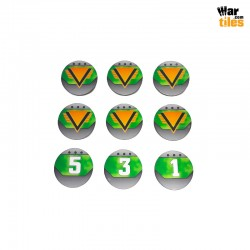Kill Teams Commander Tokens Set - Green