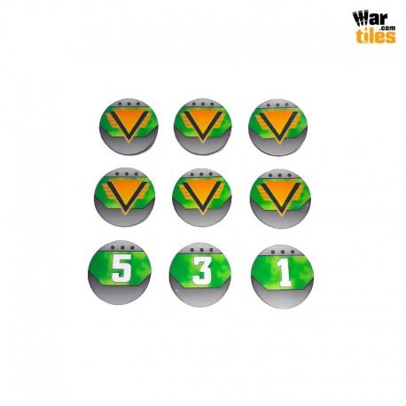 Kill Teams Commander Tokens Set - Green