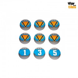 Kill Teams Commander Tokens Set - Blue