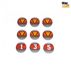 Kill Teams Commander Tokens Set - Red